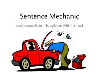 Sentence Mechanic