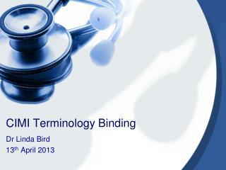 CIMI Terminology Binding