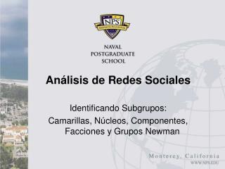 Análisis de  R edes Sociales