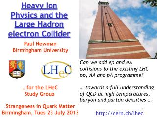 Heavy Ion Physics and the Large  Hadron  electron Collider