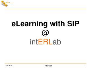 E-LearningUsingSIP
