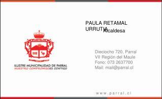 PAULA RETAMAL URRUTIA
