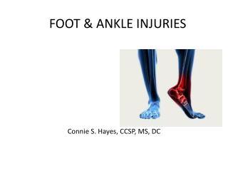 FOOT & ANKLE INJURIES