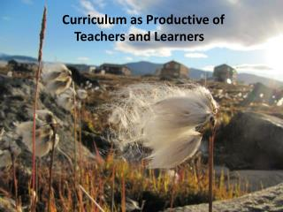 Curriculum as Productive of  Teachers  and Learners