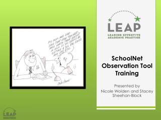 SchoolNet  Observation Tool  Training