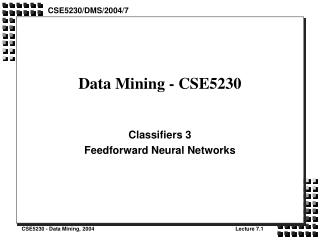 Data Mining - CSE5230