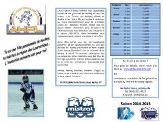 Parles-en à tes amies ! Pour  plus de  détails, visite notre site Web au   www.ahflaurentides.com