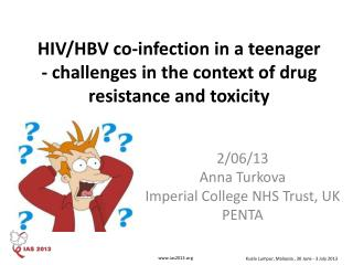 HIV/HBV co-infection in a teenager - challenges in the context of drug resistance and toxicity
