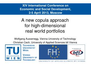 XIV International Conference on Economic and Social Development, 2-5 April 2013, Moscow
