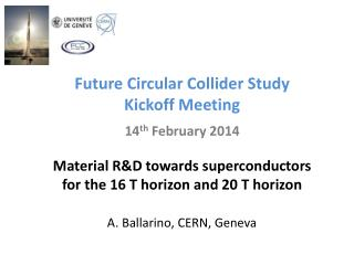 Future Circular Collider Study Kickoff  Meeting 14 th  February 2014