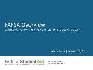 FAFSA Overview