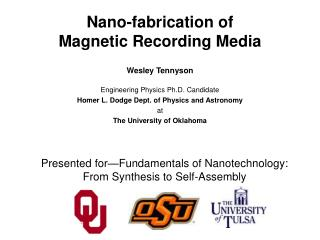 Nano-fabrication of  Magnetic Recording Media