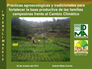 30 de octubre del 2012                        Gabriel Mejía  Duclós