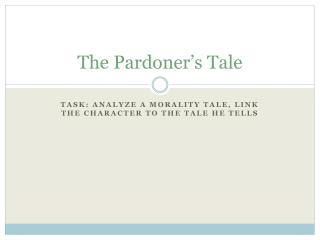 The Pardoner�s Tale