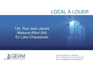 152, bd Haussmann     75008 Paris Tél. : 01 53 53 23 23    Fax : 01 53 53 23 29