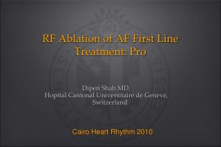 RF Ablation of AF First Line Treatment: Pro