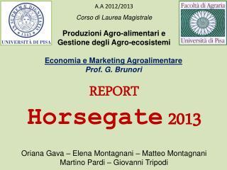 Corso di  Laurea Magistrale Produzioni Agro-alimentari e  Gestione degli Agro-ecosistemi