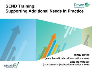 SEND Training: Supporting Additional Needs in Practice
