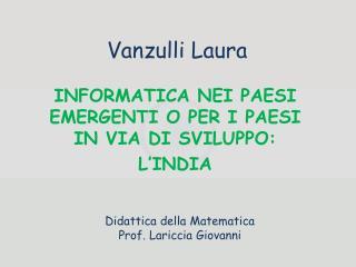 Vanzulli  Laura