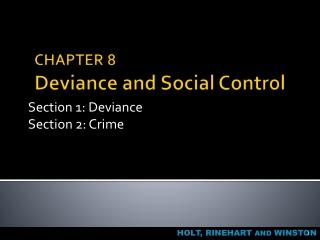 Functionalism  Deviance