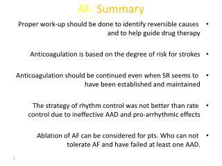 AF: Summary