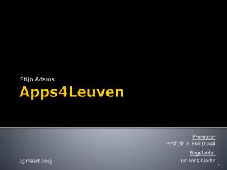 Apps4Leuven