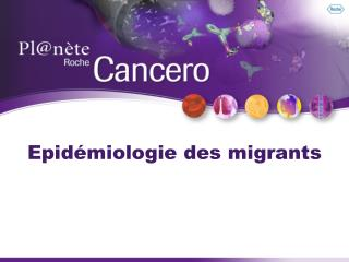 Epid miologie des migrants