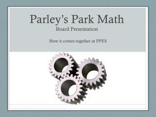 Parley's Park Math Board Presentation