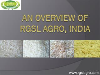 An Overview of Rgsl Agro, India