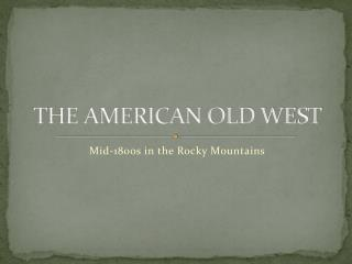THE AMERICAN OLD WEST