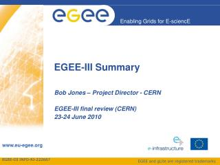 EGEE-III Summary