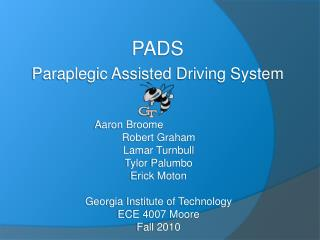 PADS Paraplegic Assisted Driving System
