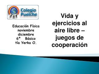 Educación Física noviembre diciembre 6º   Básico tía  Yerka  O.