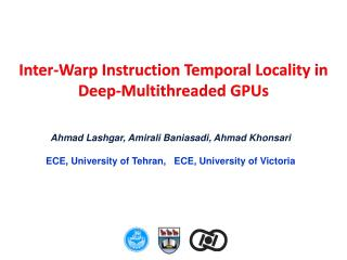 Inter-Warp Instruction Temporal Locality in Deep-Multithreaded GPUs