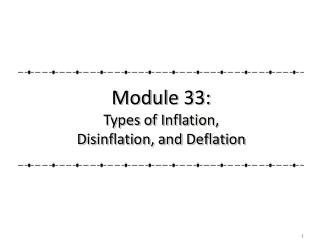 Module 33: Types of Inflation,                                Disinflation, and Deflation