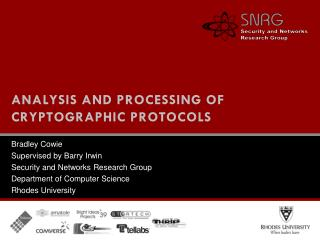 Analysis and Processing of Cryptographic Protocols