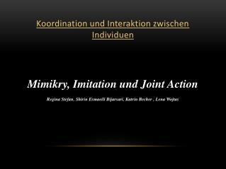 Koordination und Interaktion zwischen Individuen