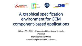 A graphical specification  environment  for GCM component-based  applications
