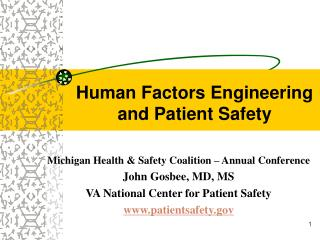 Human Factors Engineering and Patient Safety