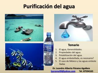 Purificaci�n del agua