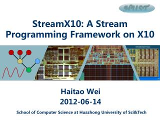 StreamX10: A Stream Programming Framework on X10