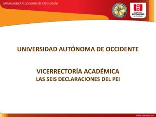 UNIVERSIDAD AUTÓNOMA DE OCCIDENTE
