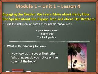 Module 1 – Unit 1 – Lesson  4