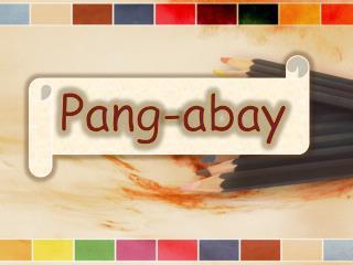 Pang- abay
