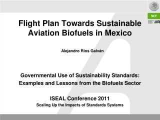 Flight Plan Towards Sustainable Aviation Biofuels in Mexico