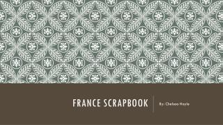 France scrapbook