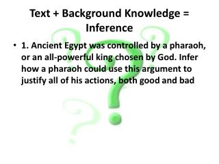 Text + Background Knowledge = Inference