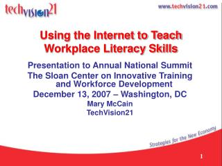Using the Internet to Teach Workplace Literacy Skills