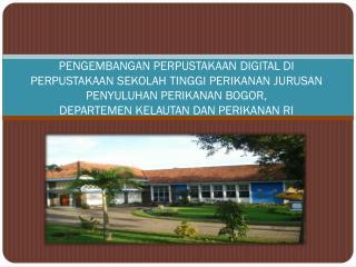 Magister Teknologi Informasi untuk Perpustakaan Sekolah Pasca Sarjana IPB 2009