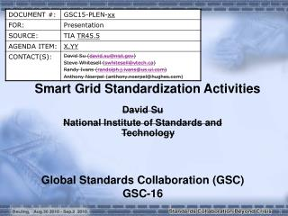 Smart Grid Standardization Activities